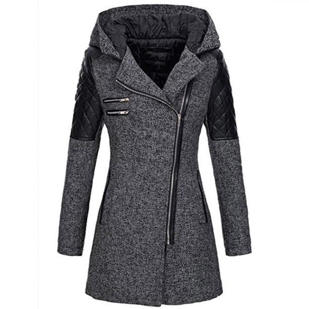 Sweatshirts for Women, Women's Oblique Zipper Slim Fit Hoodie Jacket Long Sleeve Coat Outwear by Nevera Gray by Nevera Women