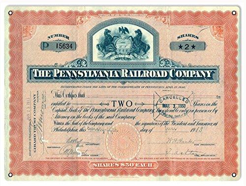 Reproduction The Pennsylvania Railroad Company Stock Certificate ()