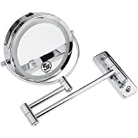 Baoblaze LED Light Double Sided Wall Mount Mirror 5x Magnifying for Makeup Bath Shave