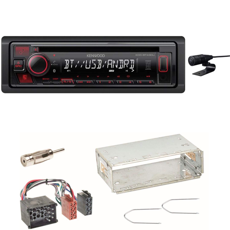 Kenwood KDC-BT430U MP3 Bluetooth WMA WAV USB AUX 1-DIN FLAC Autoradio Freisprecheinrichtung Einbauset f/ür BMW 3er E36 Z3
