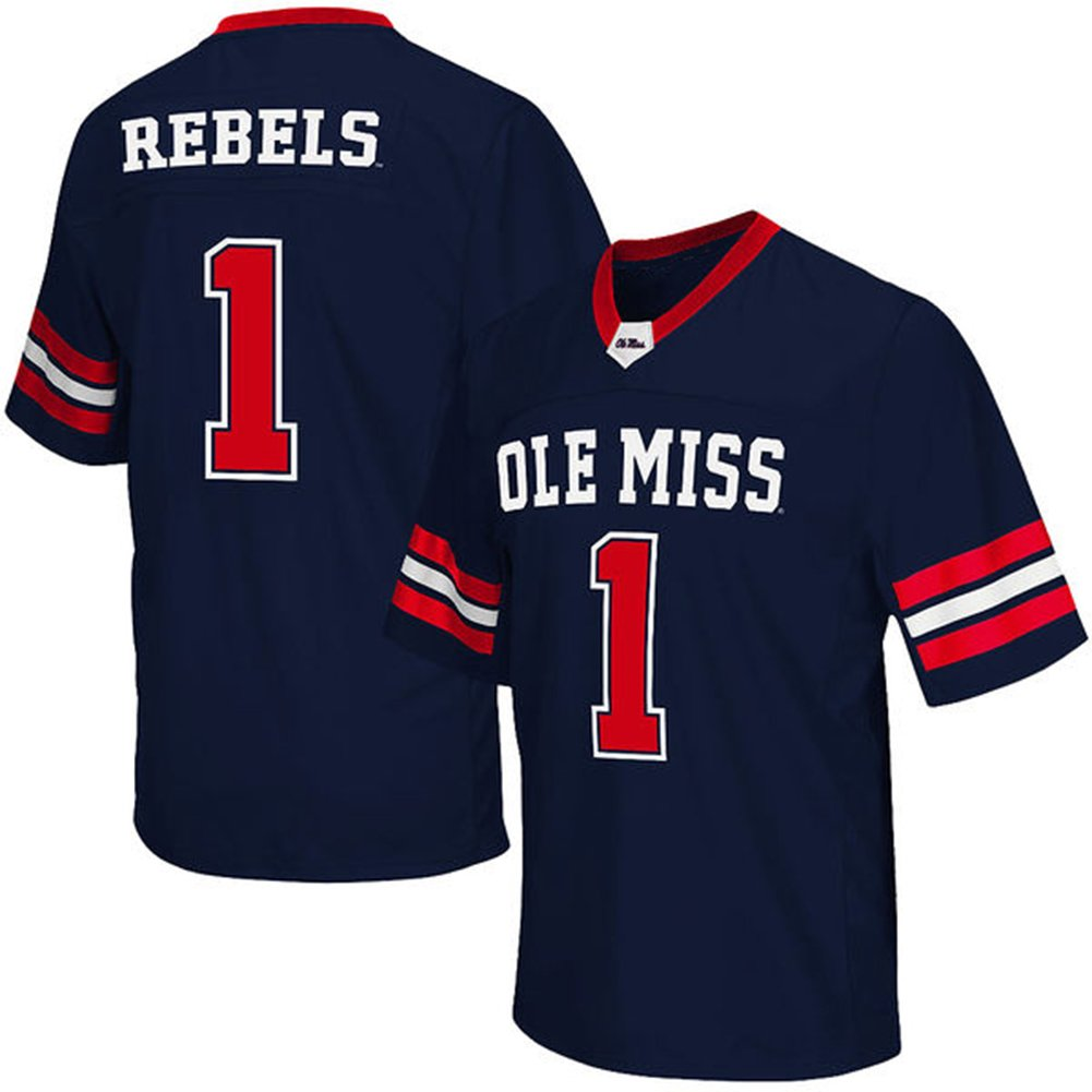 official photos 9fca1 919e9 NCAA Mens Colosseum #1 Navy Ole Miss Rebels Big & Tall ...