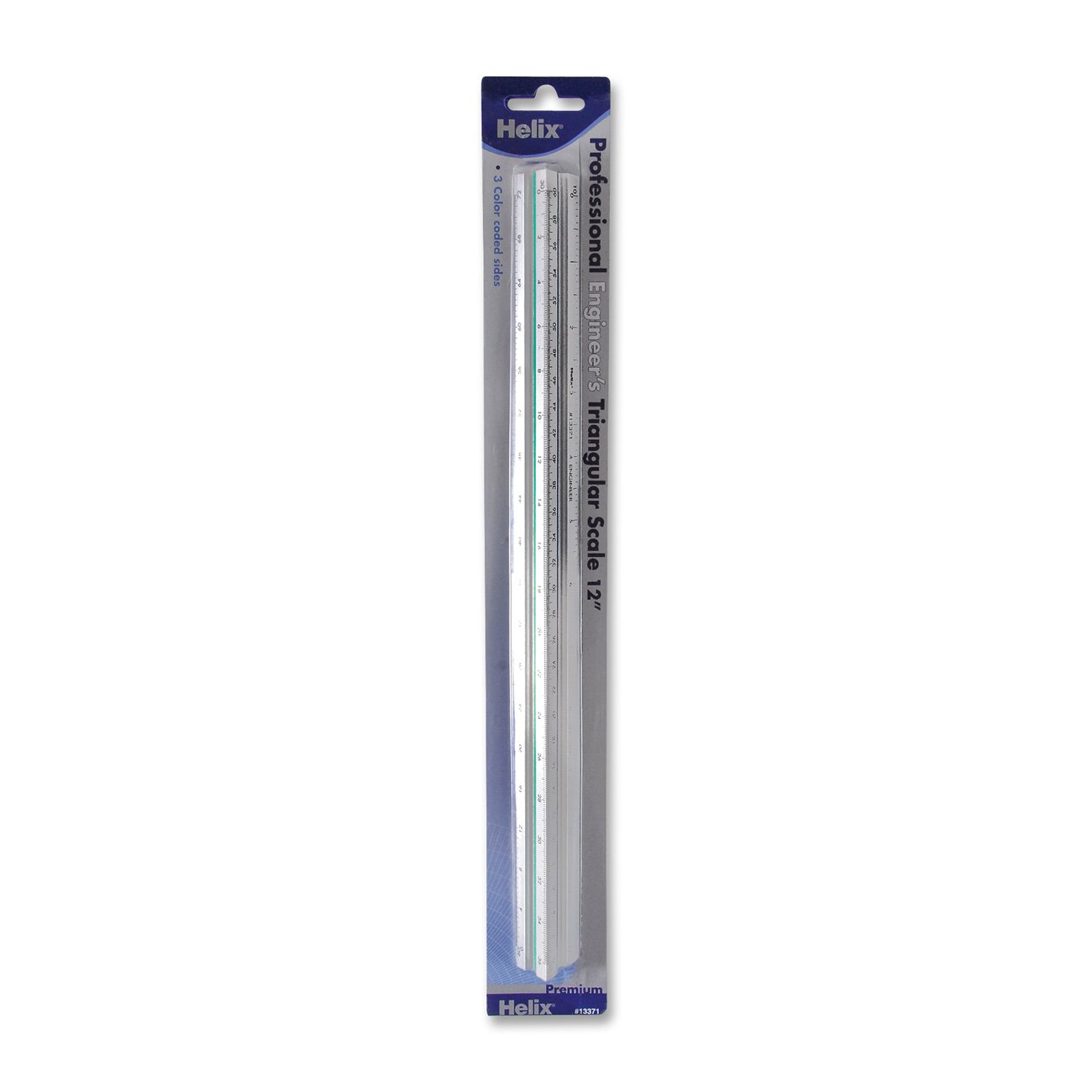 Helix Professional Engineer's Metal Triangular Scale 12 Inch / 30cm (13371)