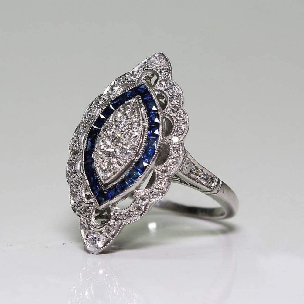 BAJSKDZafiro 14K Anillo de Diamantes de Oro Anillo de Piedras Preciosas de peridoto de Compromisopara Mujeres Joyas de Granate