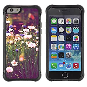 Suave TPU GEL Carcasa Funda Silicona Blando Estuche Caso de protección (para) Apple Iphone 6 PLUS 5.5 / CECELL Phone case / / Field Daisies Green Blooming Vignette /