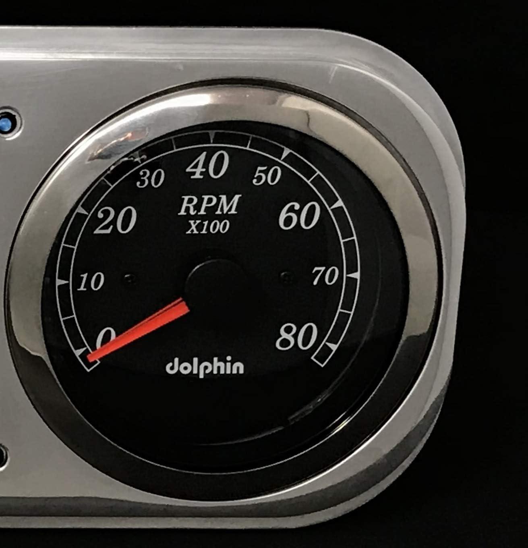 1937 1938 Chevy Car 3 3//8 Quad Style GPS Gauge Dash Cluster Panel Black