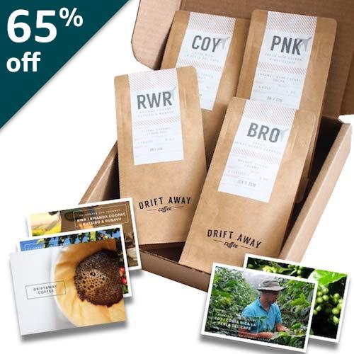 Driftaway Coffee: World Explorer's Coffee Sampler - 1 LB