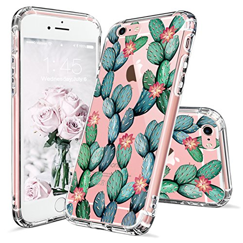 iPhone 6s Case, iPhone 6 Cover, MOSNOVO Tropical Cactus Clear Design Printed Transparent Plastic Hard Case with Soft TPU Bumper Protective Back Phone Case Cover for Apple iPhone 6 6s (4.7 Inch)