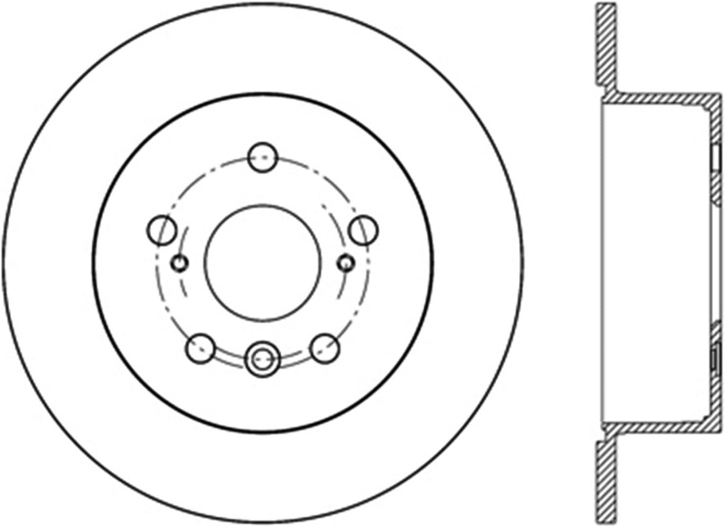 StopTech 126.44188SR Sport Slotted Brake Rotor; Rear Right