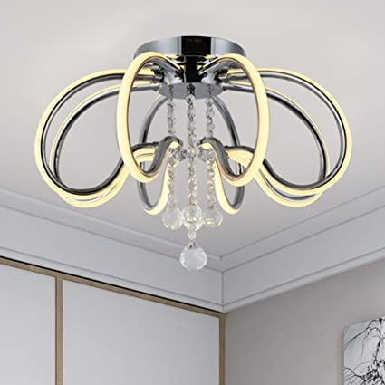 Close to Ceiling Lights Modern Flush Mount Ceiling Light Ceiling Lamp  Contemporary Chandelier Lighting Fixture Dimmable LED 3000K 4950LM-30W High  ...