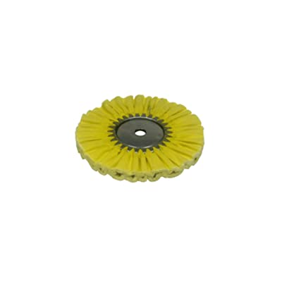 Zephyr AWY 58-8 FC4 Yellow 1 on 1 4 Fast Cut Airway Buffing Wheel: Automotive