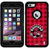 Raptors diseños sobre negro OtterBox Defender Series–Funda para iPhone 6Plus y iPhone 6s Plus