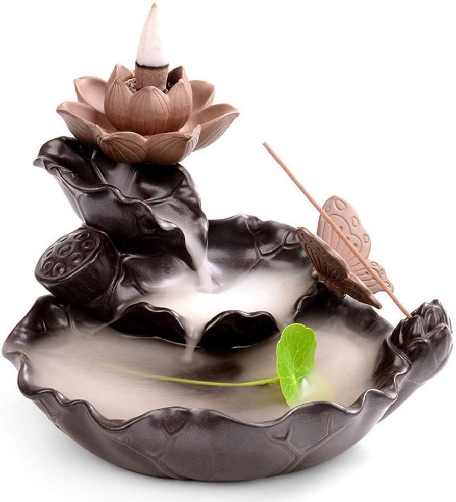 Mayco Bell - Quemador de incienso con aroma a mariposa y loto