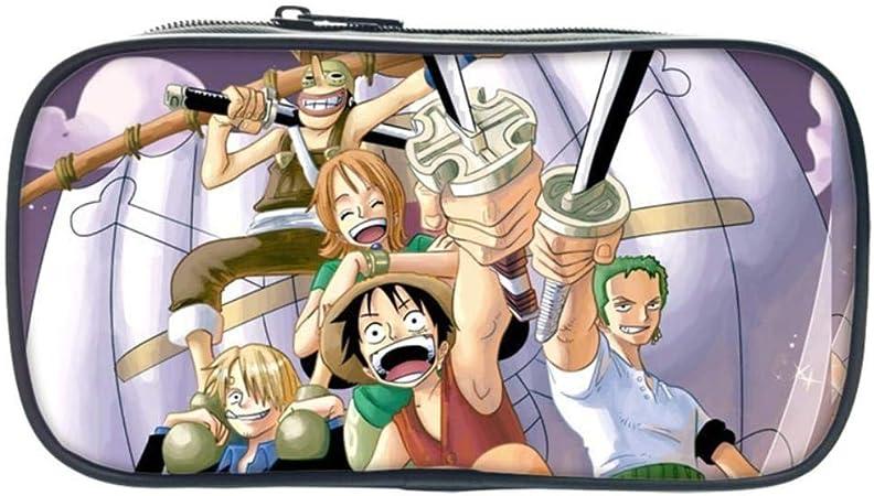 Pallima Pencil Case One Piece Anime Monkey D. Luffy impresión Estuche para lápices Estuches cosméticos para Adolescentes niños Escolares Monedero Bolsas de Maquillaje 11: Amazon.es: Hogar