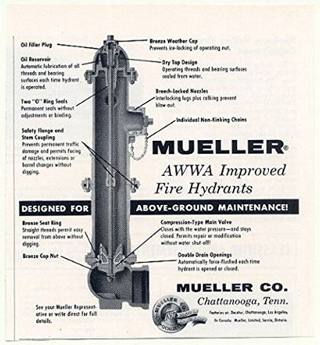 Galleon 1958 Mueller Awwa Improved Fire Hydrant Cut Away
