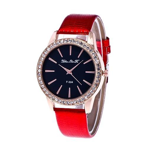 Relojes Pulsera Mujer,JIAJIA YL Cuarzo Romana Cuero de Imitación Relojes Regalo (E)