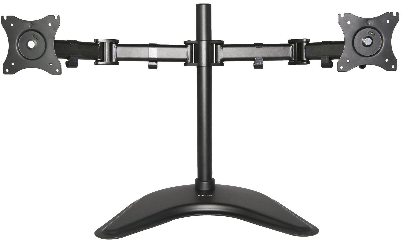 Dual Monitor Mount Fully Adjustable Desk Free Stand for 2 LCD Screens up to 27''