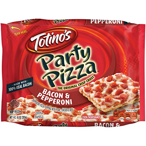 Totino's Party Pizza, Bacon and Pepperoni, 10.4 oz -
