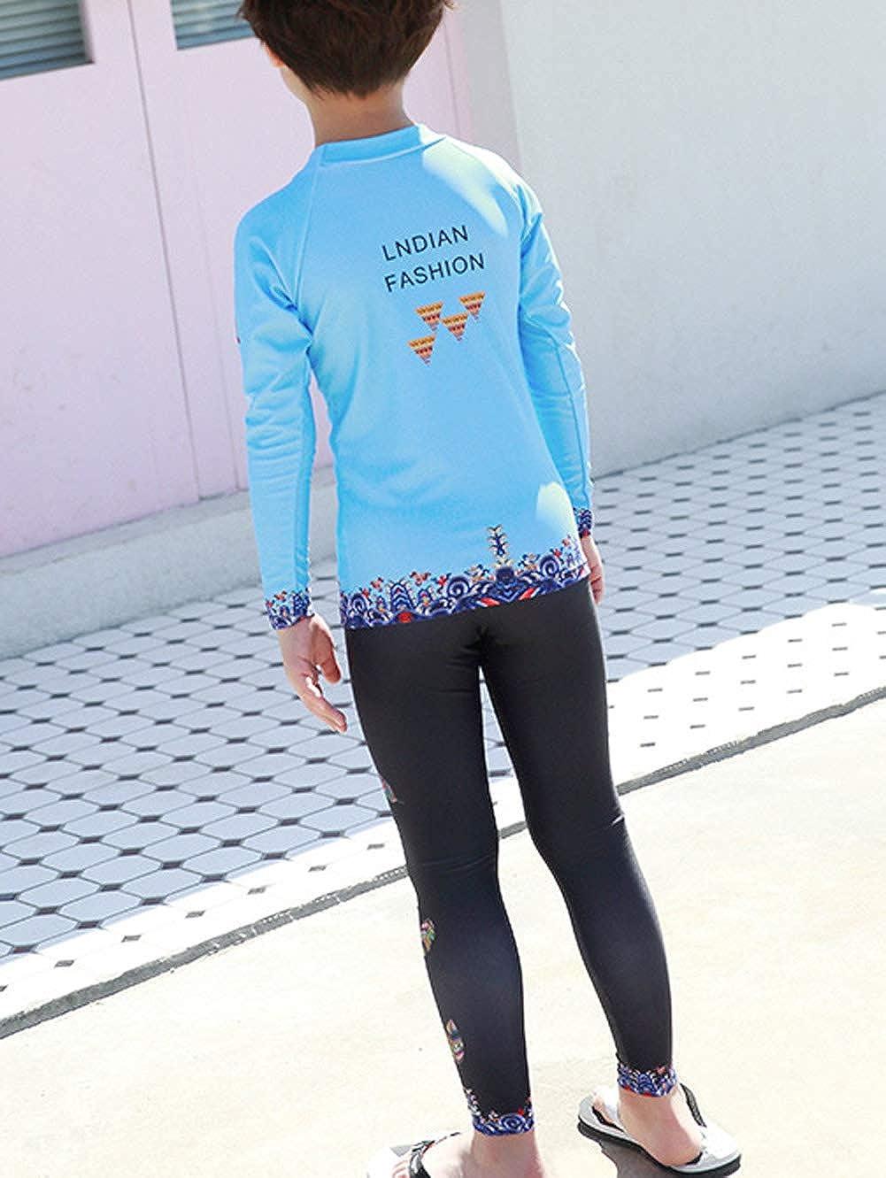 Happy Cherry Kids Rashruard Swimsuit Long Sleeve Sun Protection Wetsuit 5-9T