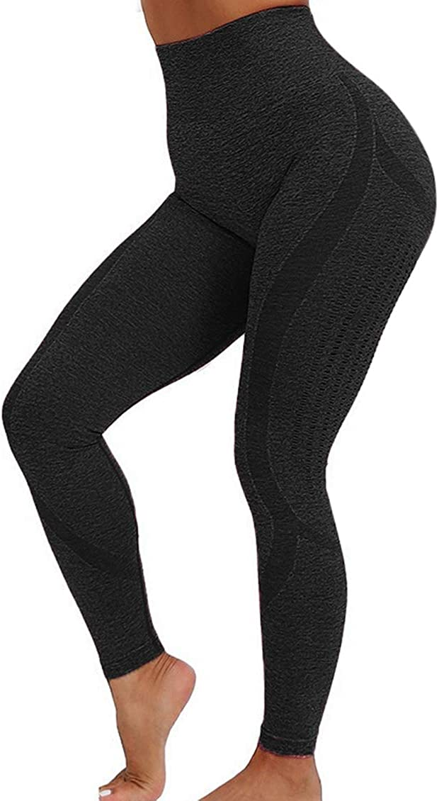 SLIMBELLE High Waist Seamless Leggings Workout Tummy Control Yoga Pants Butt Lifting Active Tights for Women