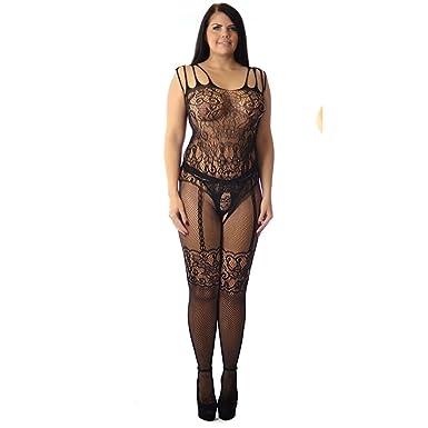 9ef88ab6b2 Corset Suspender Belt Fishnet Catsuit Bodystocking Plus  Amazon.co.uk   Clothing