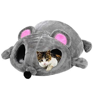 Sookg - Saco de Dormir para Gato o Gato, diseño de Dibujos Animados con Gato y Gato (Gris): Amazon.es: Productos para mascotas