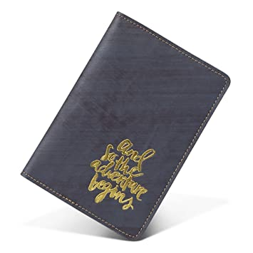 15a410017c9b Amazon.com | Genuine Leather Men Passport Cover Travel Wallet Credit Card  Holder (blue napa) | Passport Wallets
