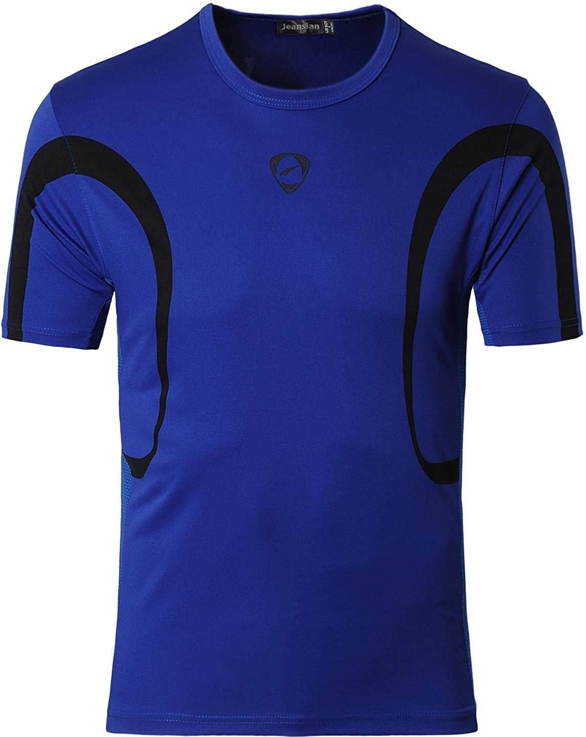 jeansian Men's Sports Breathable Quick Dry Short Sleeve T-Shirts Tee Tops Running Training LSL020 LSL171