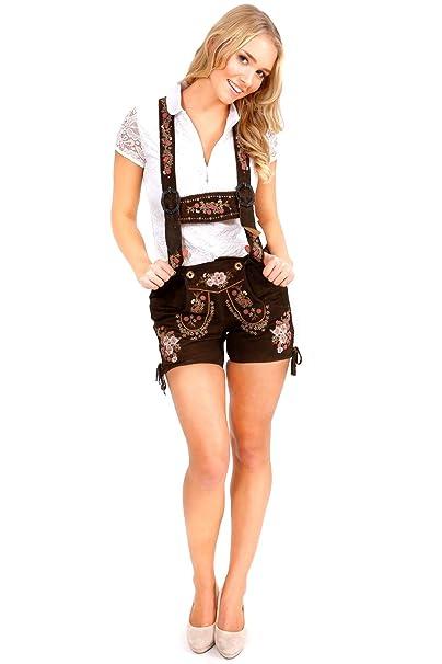 German Bavarian Girls Lederhosen Gray size 5 6