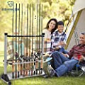 Aluminum Fishing Rod Rack Holder-24 Fishing Pole and Reel Stand Carrier , Perfect for Fishing Tackle on Boat, Truck, RV by OneStone