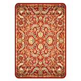 "Deflecto Harbour Pointe Collection Atrium Decorative Hard Floor Chairmat 46"" x 60"", Red Multi Finish"
