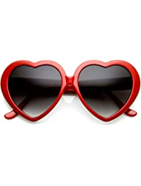 cf11de04c44d Large Oversized Womens Heart Shaped Sunglasses Cute Love Fashion Eyewear