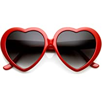 Large Oversized Heart Shaped Sunglasses Womens Fashion Eyewear Cute Sunnies New