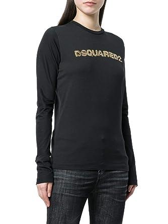 Shirt Negro S75gc0939s22427963 Mujer T es Algodon Dsquared2 Amazon Bq1PgS4x