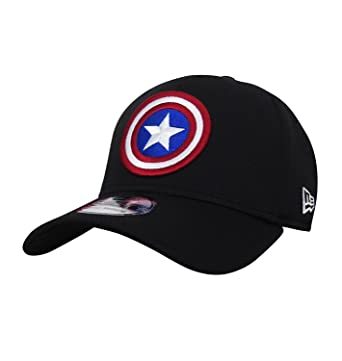 1b7ddce9 Captain America Shield Black 39Thirty Cap at Amazon Men's Clothing ...