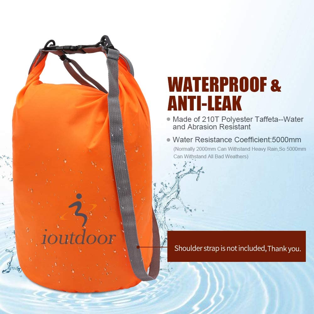 Waterproof Dry Bag Set Keep Gear Dry Clean,Roll Top Dry Compression Sacks