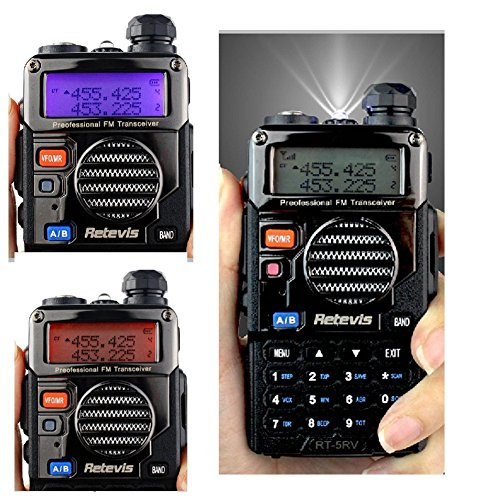 Retevis RT-5RV Walkie Talkies 5W 128CH Dual Band VHF/UHF 136-174/400-520 MHz VOX CTCSS/DCS FM Ham Radio with Earpiece (10 Pack) and Speaker Mic (10 Pack) by Retevis (Image #4)'