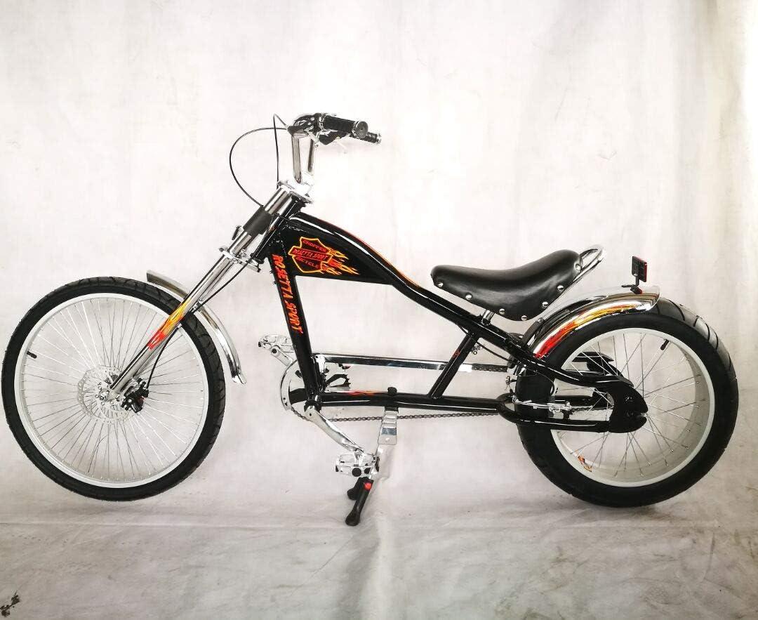 Rosetta Sport LA, Bicicleta baja tipo chopper, negro, 20: Amazon ...