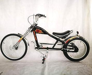 Rosetta Sport LA, Bicicleta baja tipo chopper, negro, 20: Amazon.es ...