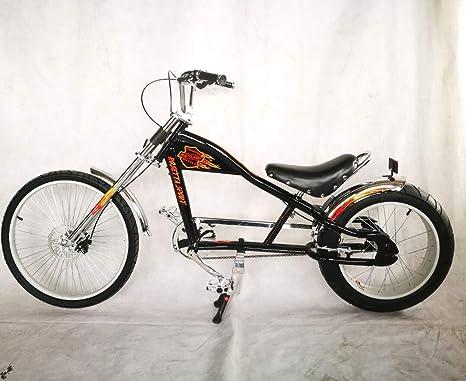 Rosetta Bicicletta Sportiva Lowrider In Stile Chopper Harley Nero