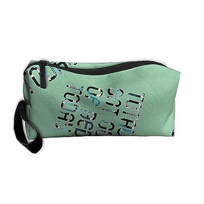 Rikki Knight LetterC Initials Cyan Blue Color Petal Leaves Design mbcp-cond43406 Messenger School Bag