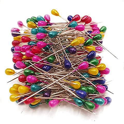 SuZhi 144-Count Dressmaking Straight Pins with Pearl Head for Decoration Sewing Pins Craft (Assorted Broaches)