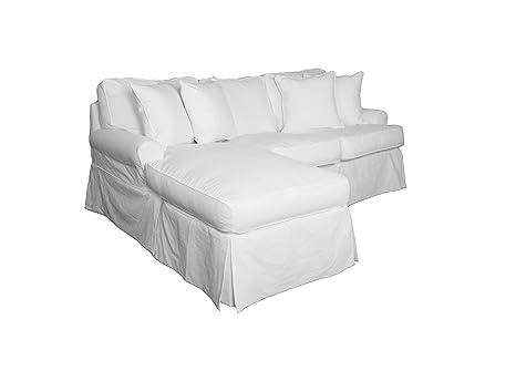 Amazon.com: Sunset Trading Horizon Sleeper Sofa & Chaise-Slip Cover Set Only-Warm White Sofa Slipcover, Small,: Industrial & Scientific