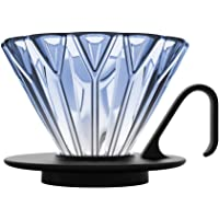 Hero Petal V60 - Gotero para café (cristal, tamaño 01), color azul