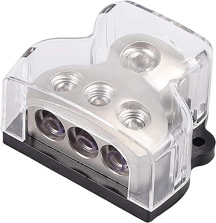 Car Audio T Type Power Supply Distribution 1*0GA In 3*4GA Out Block Splitter US