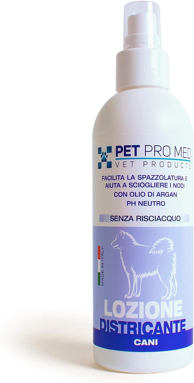 Virosac PetProMed – Loción desenredante – Facilita el cepillado y disuelve los nudos del pelo del perro – 1 botella de 200 ml con aceite de argán