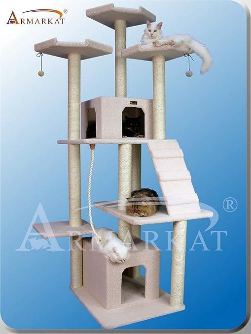 Amazon.com: ARBOL para GATOS de ARMARKAT modelo CLASSIC FAUX FLEECE B8201: Health & Personal Care
