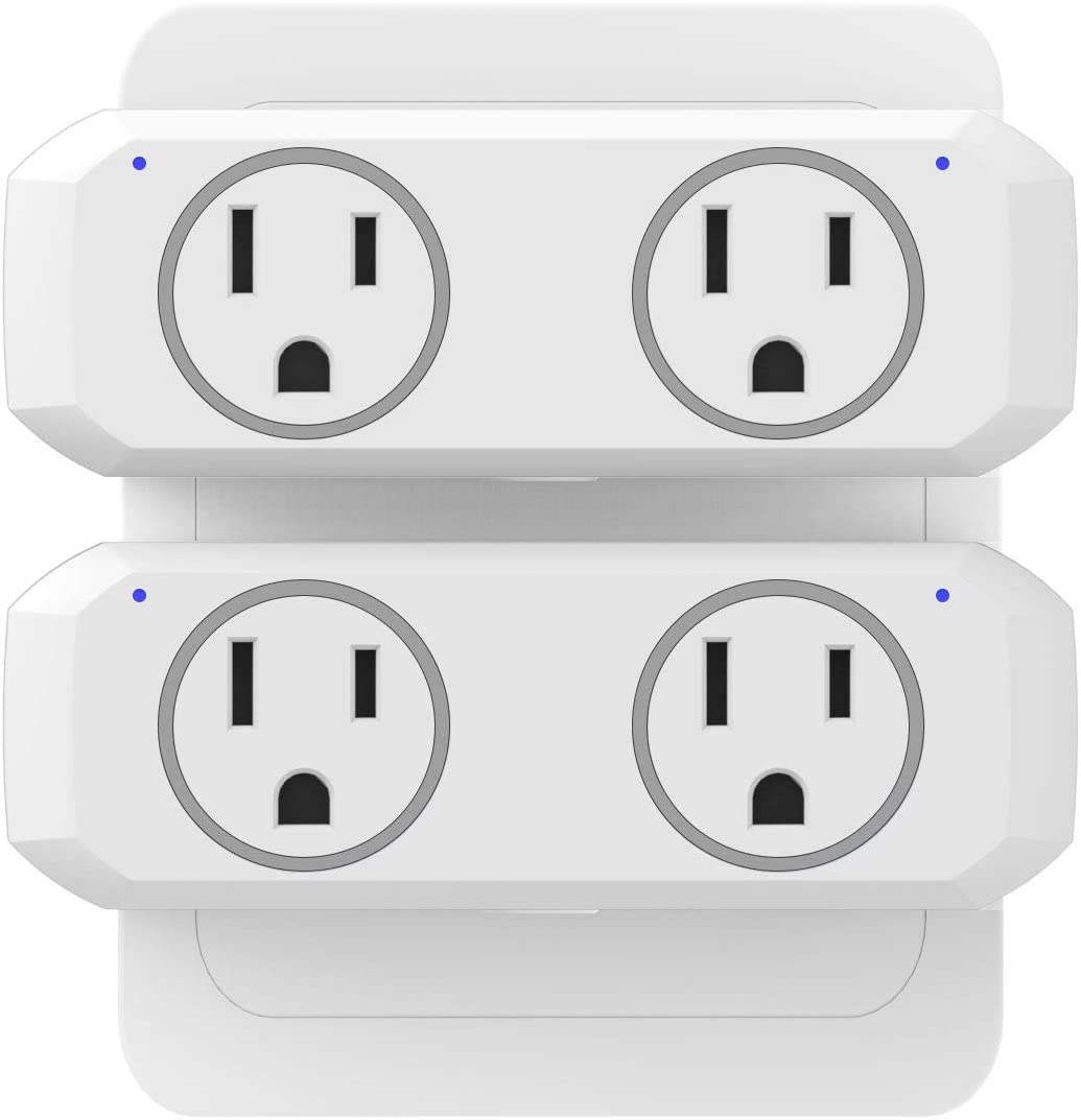 WiFi Smart Plug Dual Outlet 2 Pack - NTONPOWER WiFi Mini Socket Work with Alexa, Google Home & IFTTT, Remote Control Individually or in Group