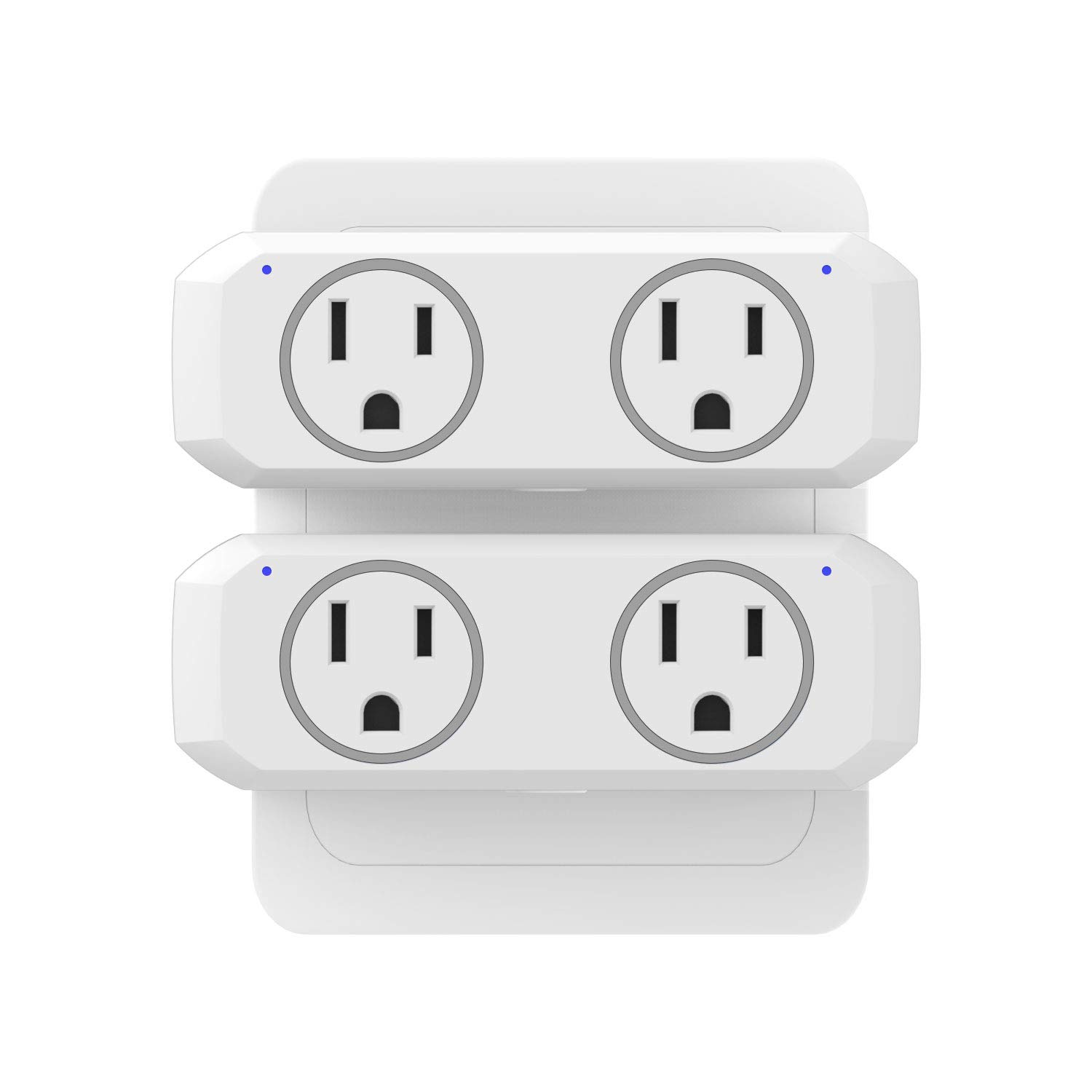 WiFi Smart Plug Dual Outlet 2 Pack - NTONPOWER WiFi Mini Socket Work with Alexa, Google Home & IFTTT, Remote Control Individually or in Group, Schedule and Timer Function, No Hub Required
