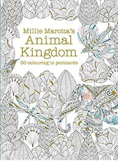 Millie Marottas Animal Kingdom Postcard Box Colouring Books