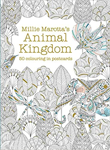 Millie Marottas Animal Kingdom Postcard Box 50 Beautiful Cards For Colouring In Books Marotta 9781849942904 Amazon